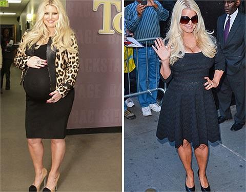 Jessica Simpson tuy không xuống cân quá nhanh nhưng thành quả sau 6 tháng sinh con như vậy cũng là nỗ lực hết mình của người đẹp.