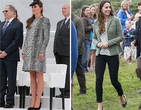 Kate Middleton bầu bí gọn gàng hồi tháng 6/2013 và đến cuối tháng 8 cô đã trở lại với thân hình thon gọn sau khi sinh hoàng tử Prince George Alexander Louis.