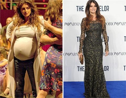 Penelope Cruz có màn lột xác ngoạn mục khi tăng cân vù vù ở giai đoạn thai kỳ và giảm cân thần tốc sau khi sinh chỉ 3 tháng.