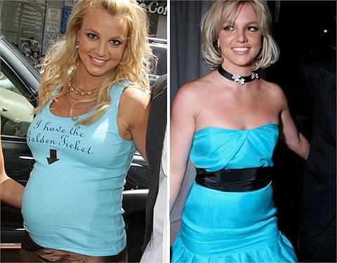 Britney Spears luôn gặp vấn đề với cân nặng, nhưng thưở sinh con trai Sean cô cũng từng giảm cân thần tốc sau 4 tháng.