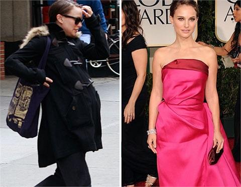 Natalie Portman lại mình hạc xương mai sau khi sinh con được 7 tháng.