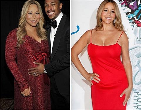 Mariah Carey nỗ lực giảm cân để xứng đôi với chồng trẻ, 6 tháng sau sinh cô đã có thể tự tin diện váy sexy.