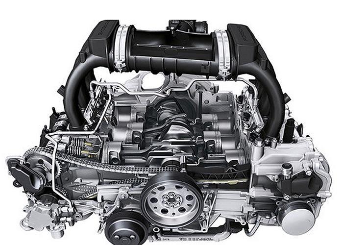 Động cơ H6 2.7 lít DOHC boxer trên mẫu Porsche Cayman vượt qua các đối thủ nhờ khả năng vận hành ấn tượng với công suất cực đại 275 mã lực.