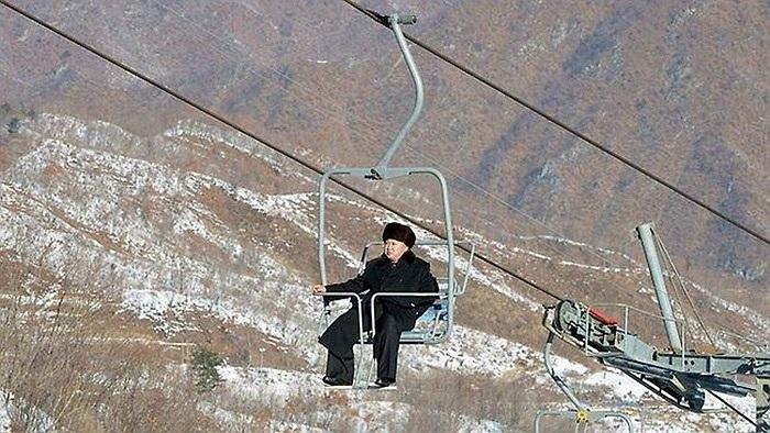 Lễ khánh thành khu trượt tuyết Masik ở thành phố Wonsan, tỉnh Kangwon của Triều Tiên