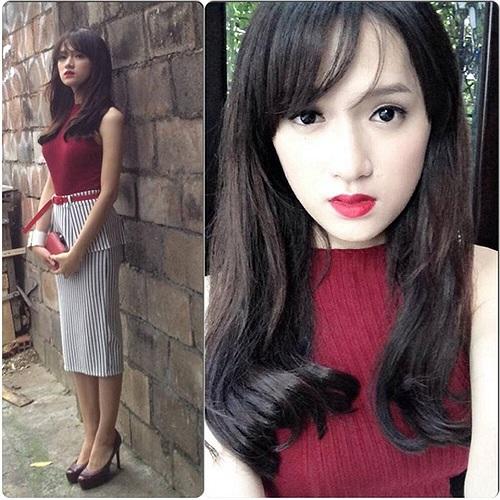 Hương Giang Idol chững chạc trong trang phục công sở.