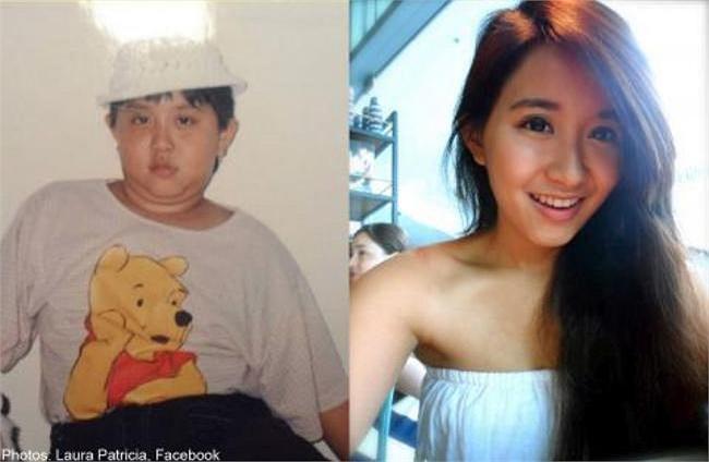 Cộng đồng mạng tại Singapore đang rất bất ngờ với những bức ảnh mô tả quá trình giảm cân đáng kinh ngạc của nữ sinh Laura Patricia, 20 tuổi.