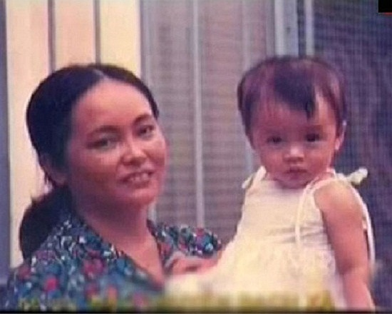 Ảnh thời bé của kiều nữ Tăng Thanh Hà.