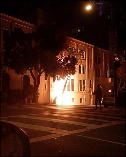 Rất may không có ai bị thương trong vụ phóng hỏa cửa trước Tổng lãnh sự quán Trung Quốc ở Mỹ hôm 1/1
