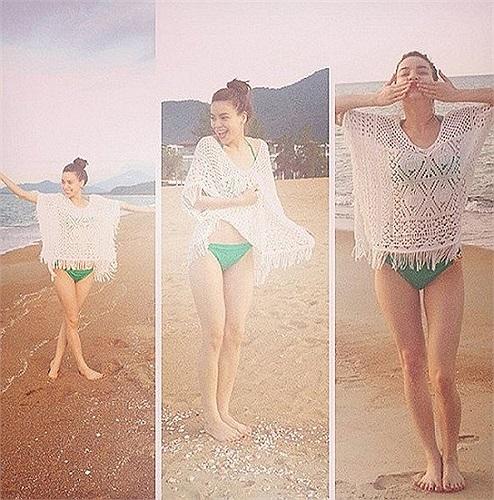 Hồ Ngọc Hà lộ thân hình gầy gò trong lần hiếm hoi mặc áo tắm.