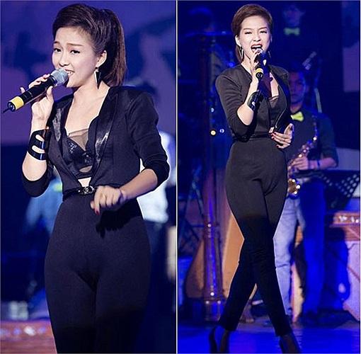 Đinh Hương diện jumpsuit kém đẹp.