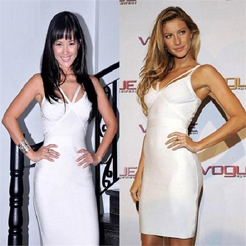 Diva mặc váy trắng giống như siêu mẫu tỉ phú Brazil