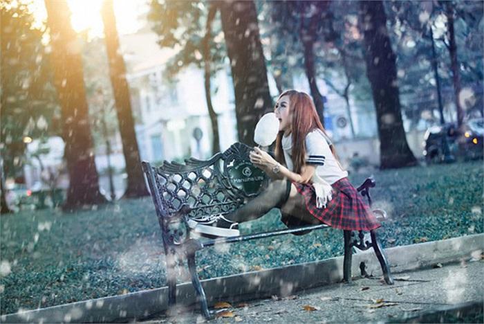 Cùng ngắm Quỳnh Nhi trong bộ ảnh mới rất dễ thương này.
