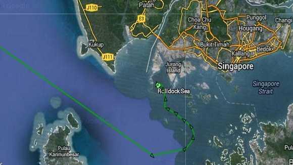 Sau khi tiếp nhiên liệu ở cảng Singapore, Rolldock Sea đã lên đường về Việt Nam