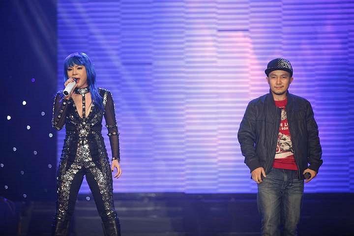 Thanh Thảo cùng Rapper Đinh Tiến Đạt.