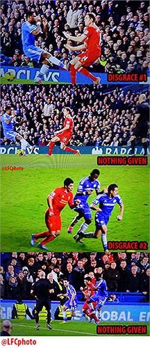 Liverpool đêm qua khá nhiều lần bị Howard Webb xử ép khi bỏ qua một loạt lỗi của Chelsea