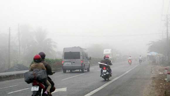 Sương mù dày đặc các tỉnh miền núi phía Bắc.
