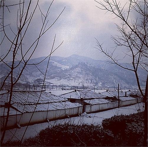 Một làng quê Triều Tiên chìm trong tuyết mùa đông