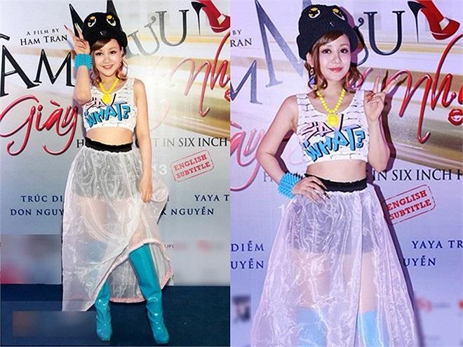 MC Việt Nga tiếp tục đi trên vết xe đổ về gu thời trang kỳ quái. Việc ứng dụng phong cách độc lạ không phù hợp với hoàn cảnh đã khiến nữ MC dính mác thảm họa thời trang trong suốt năm 2013.