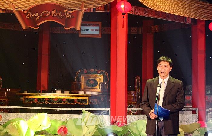 Đại diện BTC, Phó giám đốc phục trách Đài truyền hình Kỹ thuật số VTC, Nguyễn Văn Bình phát biểu trước lễ trao giải.