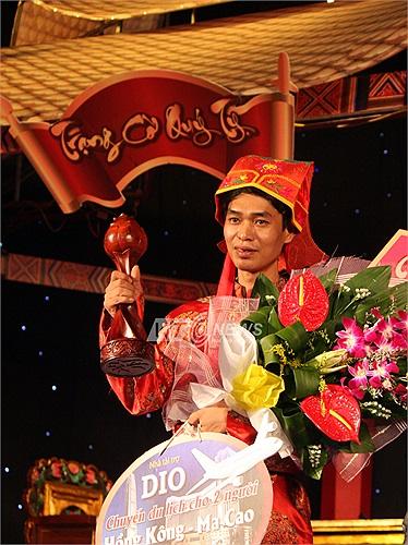 'Kỳ vương đất Bắc' Phạm Quốc Hương trở thành nhà vô địch, đoạt danh hiệu Trạng cờ Quý Tỵ 2013. (Hà Thành: Thực hiện)