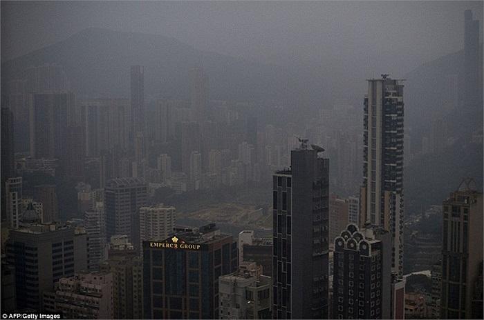 Hongkong cũng đang bị ảnh hưởng bởi khói bụi