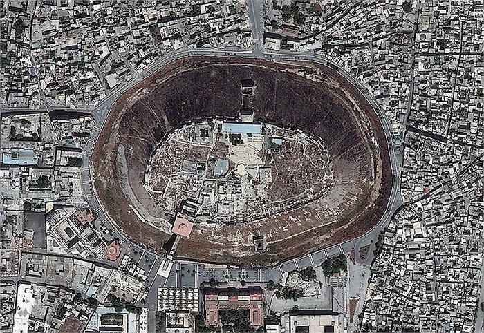 Khu vực Citadel trong lòng thành phố Aleppo, Syria.