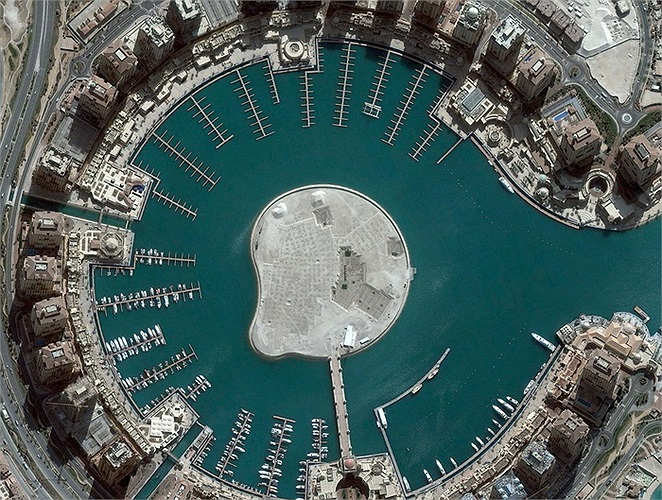 Hòn đảo nhân tạo tại Doha, Qatar.