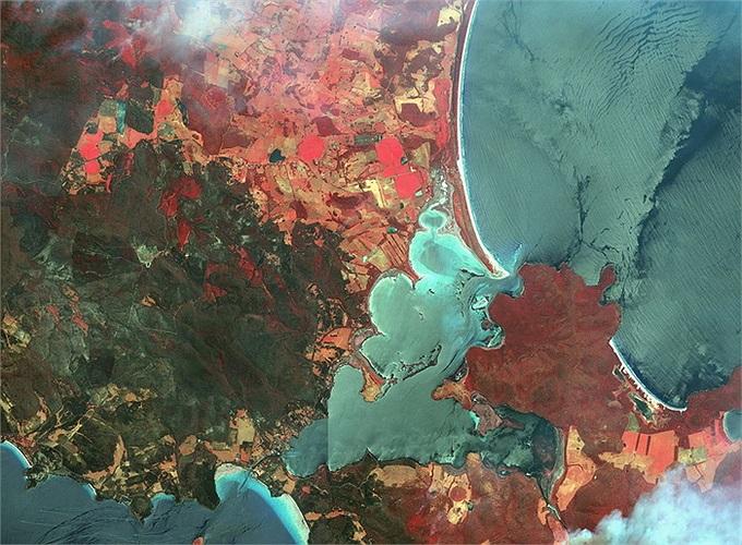 Vụ cháy rừng ở Dunalley, Australia hồi tháng 6/2013
