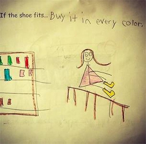 Điền tiếp câu: Nếu đôi giày vừa vặn…./Trả lời: …. Hãy mua nó với tất cả các màu