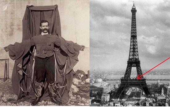 Franz Reichelt: Áo dù. Năm 1912, nhà khoa học người Pháp, Franz Reichelt đã nhảy từ tháp Eiffel nhằm thử nghiệm chiếc áo dù do chính mình phát minh. Và kết quả là nhà khoa học này đã tử nạn khi dù không mở ra được.