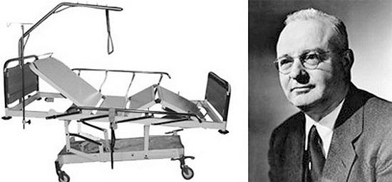 Thomas Midgley: Hệ thống nâng bệnh nhân. Năm 1940, nhà khoa học người Mỹ, Thomas Midgley đã chế tạo ra hệ thống dây cáp và ròng rọc giúp người bị tàn phế có thể ngồi dậy trên dường. 4 năm sau đó, ông đã tử vong do dây cáp của hệ thống này cuốn vào cổ