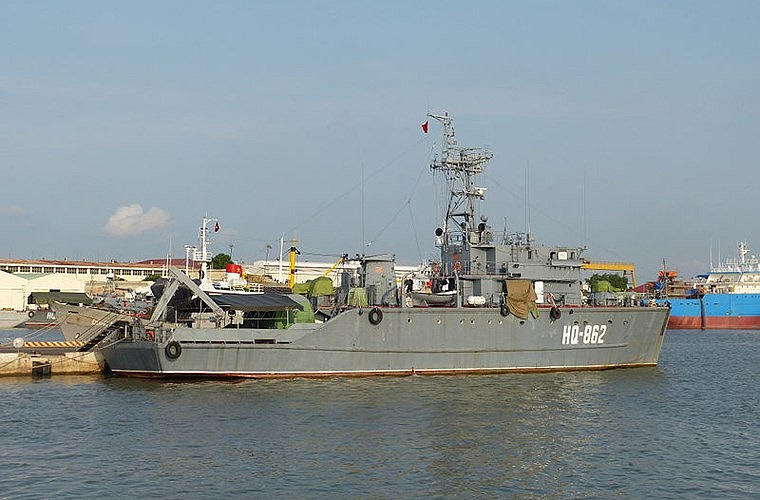Một trong 4 tàu quét mìn Project 1260 Sonya của Hải quân Nhân dân Việt Nam.