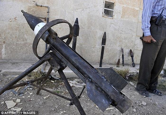 Bệ phóng tên lửa di động của quân nổi dậy Syria