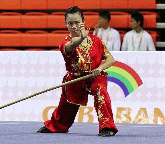 Trước đó ở nội dung Côn thuật của nữ, Minh Phương đã thất bại.