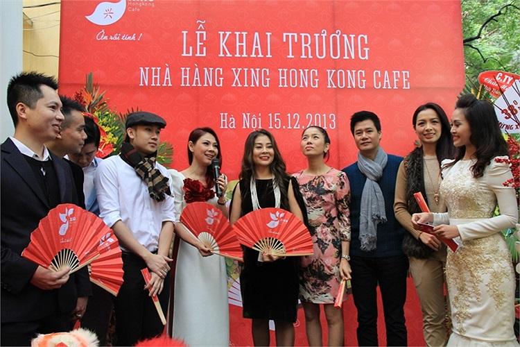 Dàn sao Vip của showbiz Việt đã tới dự khai trương Nhà hàng Xing Hong Kong Cafe tại 12 Thi Sách, Hà Nội.