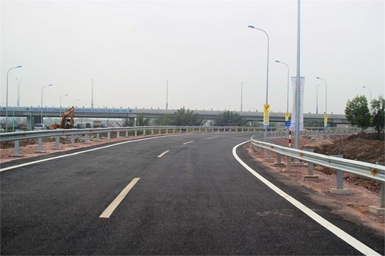 Đoạn dẫn lên đường cao tốc phía Vành đai 2, TP.HCM.