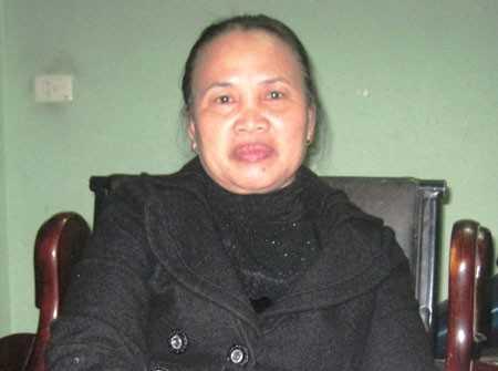 Bà Lê Thị Thanh.