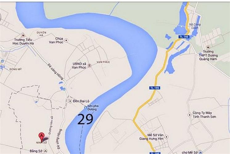 Đoạn từ Phi Liệt đến xã Ninh Sở (Hà Nội) dài 4km có 1/3 vị trí cần tìm (số 29).