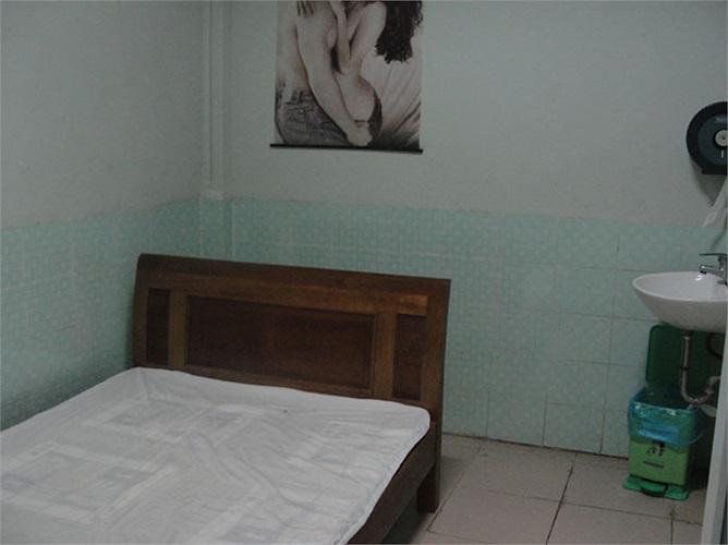 Căn phòng này giúp quý ông có được cảm giác thoải mái để xuất tinh.