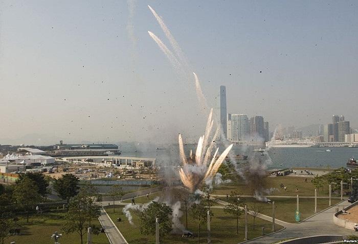 Vụ nổ được tạo cảnh ở Hồng Kông cho phim Transformers: Age of Extinction