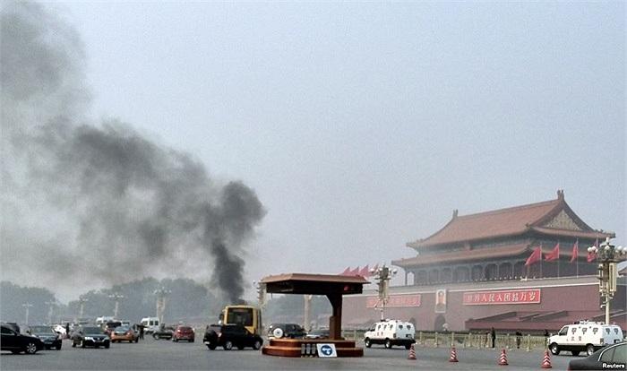 Hiện trường vụ lao xe vào Thiên An Môn, Bắc Kinh, Trung Quốc