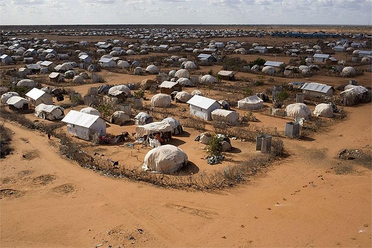Quang cảnh khu trại tị nạn tại Dadaab, Garissa, miền Đông Bắc Kenya