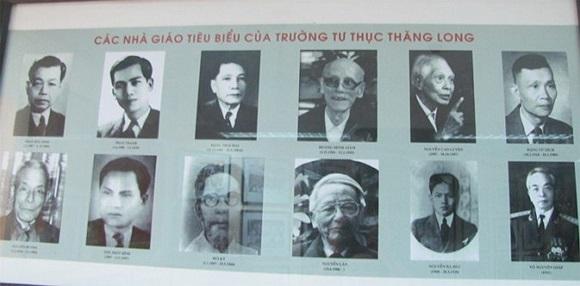 Các nhà giáo tiêu biểu của Trường trong đó có Đại tướng Võ Nguyên Giáp.