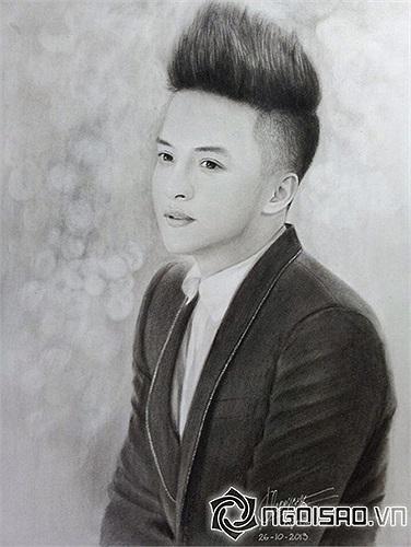 'Có thằng em vẽ tặng mình tấm hình này. Mọi người thấy sao?', Cao Thái Sơn chia sẻ trên trang cá nhân.
