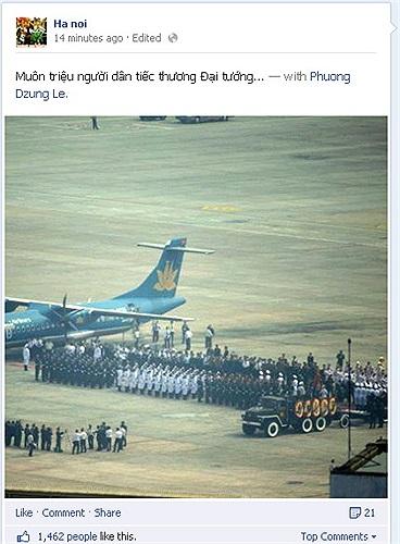 Hình ảnh chụp khu vực linh cữu Đại tướng sẽ được đưa lên chuyên cơ đặc biệt ở sân bay Nội Bài, Hà Nội