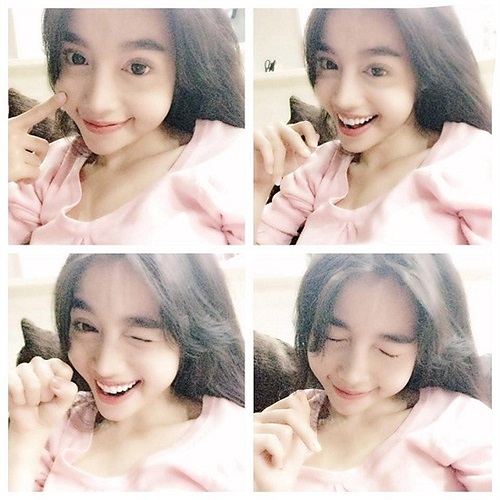 Elly Trần khoe vẻ đáng yêu, xinh xắn.