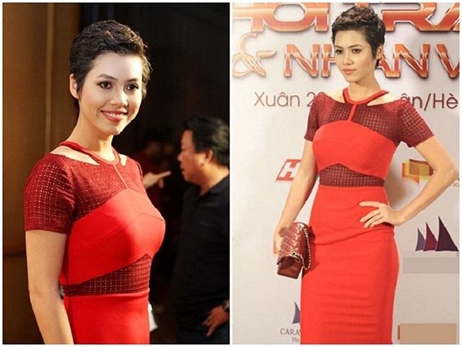 Trong chương trình Thời trang & Nhân vật số tháng 9, Hoàng My xuất hiện với hình ảnh chỉn chu hơn từ trang phục cho đến cách trang điểm và tạo kiểu tóc.