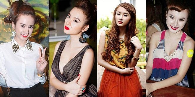 Angela Phương Trinh từng có khoảng thời gian làm 'bà mẹ đích thực' vì những lớp phấn trang điểm khiến cô già hơn rất nhiều so với lứa tuổi 18. Bởi vậy mỗi lần để mặt mộc, Phương Trinh nhận được nhiều lời khen từ người hâm mộ.