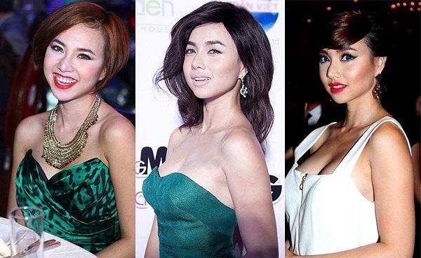 Nữ diễn viên thường xuyên quá tay mỗi khi make-up dù chỉ cần chút phấn nhẹ cô đã rất xinh đẹp.