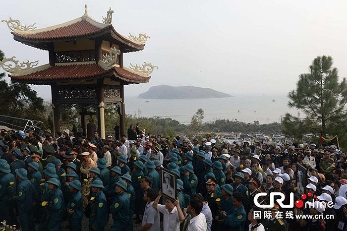 Những hình ảnh Lễ an táng Đại tướng ở Vũng Chùa - đảo Yến, thuộc xã Quảng Đông, huyện Quảng Trạch, tỉnh Quảng Bình